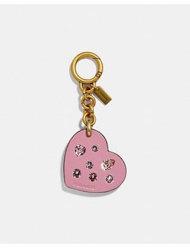Embellished Heart Bag Charm by Coach