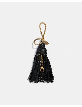 Studded Tassle Bag Charm by Coach