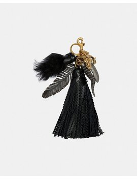 Extra Large Capped Tassel Bag Charm by Coach