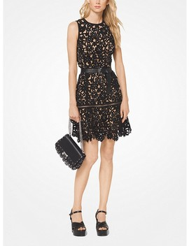Embellished Floral Suede Dress by Michael Michael Kors