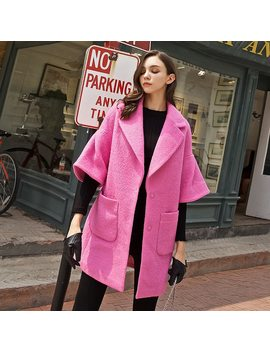 Dabuwawa Winter Woolen Women Coat New 2018 Casual Flare Sleeve Turn Down Collar Single Button Pockets Coat by Dabuwawa
