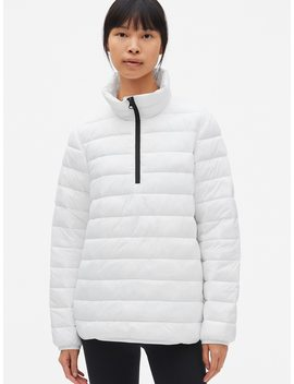 Gap Fit Lightweight Half Zip Puffer Jacket by Gap