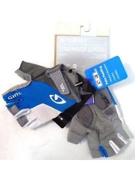 Giro Strada Massa Supergel Womens Cycling Gloves Blue White by Giro