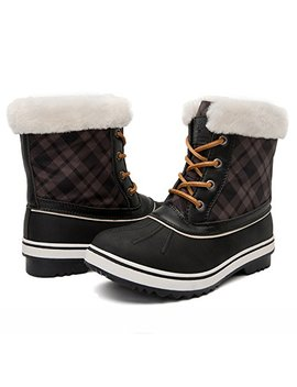 Global Win Globalwin Women's 1632 Black Grey Snow Boots by Global Win