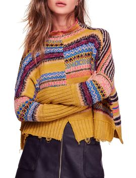 All The Pattern Mock Neck Pullover by Free People