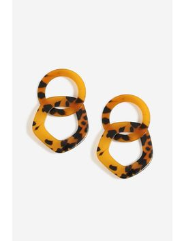 **Large Double Link Resin Earrings by Topshop