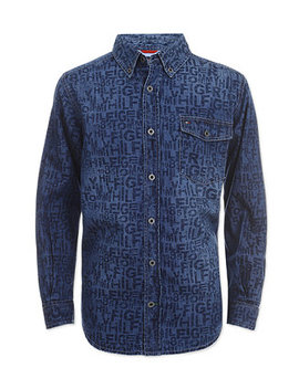 Little Boys Bill Denim Shirt by Tommy Hilfiger