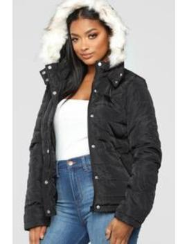 Lost In Time Puffer Jacket   Black by Fashion Nova
