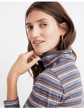Whisper Cotton Turtleneck In Nealy Stripe by Madewell
