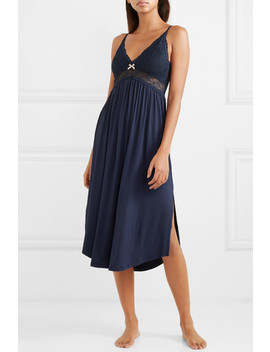 Colette Lace Trimmed Stretch Modal Nightdress by Eberjey
