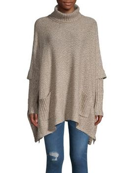 Turtleneck Pocket Poncho by Design Lab