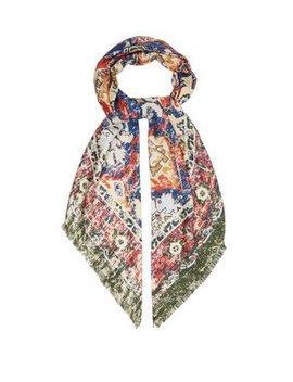 Tapestry Print Silk Scarf by Acne Studios