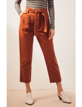 Ps / La Paperbag Twill Pants by Pacsun
