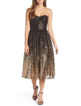 Strapless Midi Dress by Eliza J