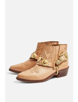 Axe Pointed Western Boots by Topshop