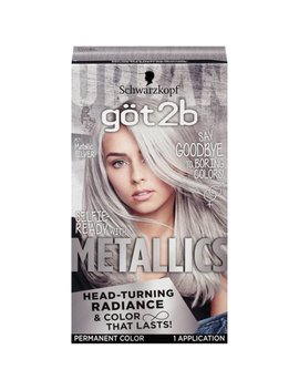 Got2b Metallic Permanent Hair Color, M71 Metallic Silver by Last Minute Costumes And Accessories