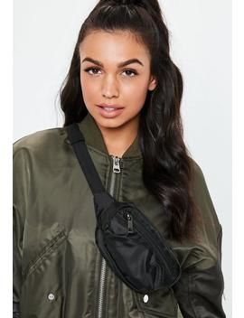 Black Sporty Bumbag by Missguided