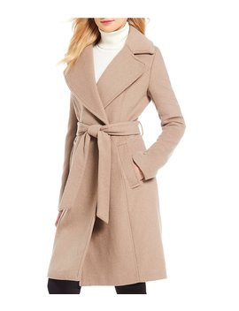 Wrap Belted Coat by Calvin Klein