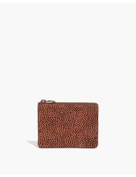 The Leather Pouch Wallet In Spotted Calf Hair by Madewell