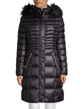 Faux Fur Trimmed Down Jacket by Karl Lagerfeld Paris