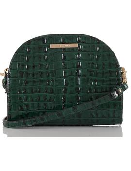 Leah Croc Embossed Leather Crossbody Bag by Brahmin