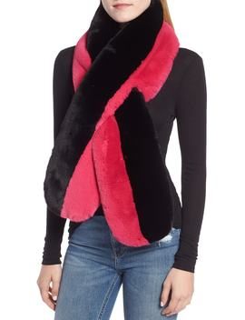 Colorblock Faux Fur Stole by Echo