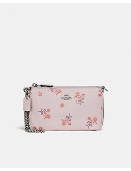 Nolita Wristlet 19 With Floral Bow Print by Coach