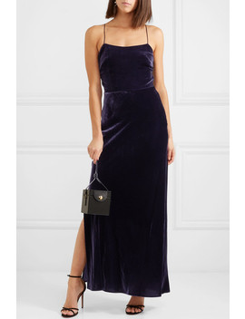 Open Back Velvet Maxi Dress by Jason Wu Grey