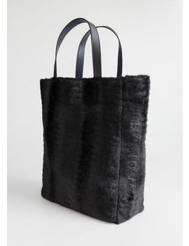 Large Faux Fur Tote by & Other Stories