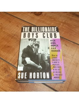 The Billionaire Boys Club, Hardcover 1st Edition Book, Sue Horton, True Crime, Los Angeles Murder, 1989, In Style Of Ann Rule by Etsy