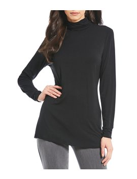 Essentials Long Sleeve Mock Neck Top by Investments