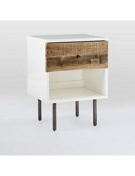 Reclaimed Wood + Lacquer Storage Nightstand, Reclaimed Pine, Gray Wash by West Elm