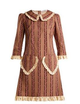 Ruffle Trimmed Floral Print Cotton Dress by Batsheva