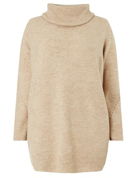 **Dp Curve Beige Cowl Neck Jumper by Dorothy Perkins