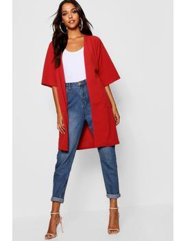 Kimono Sleeve Duster Jacket by Boohoo