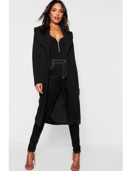 Oversized Fold Over Duster by Boohoo