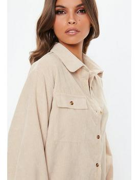 ivory-cord-button-shirt by missguided
