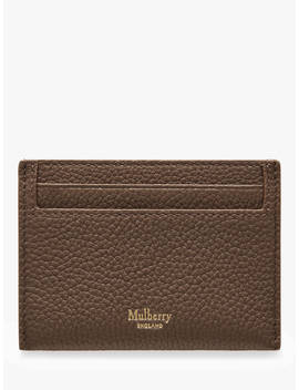 Mulberry Continental Small Classic Grain Leather Credit Card Slip, Clay by Mulberry
