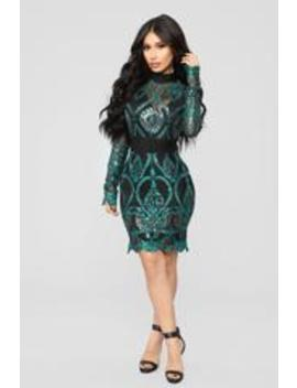 Shine Like No Other Embroidered Dress   Teal by Fashion Nova