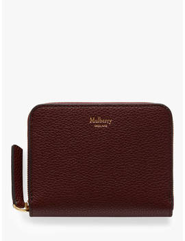 Mulberry Small Classic Grain Leather Small Zip Around Purse, Burgundy by Mulberry