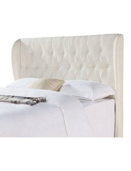 Better Homes And Gardens Scalloped Wingback Tufted Upholstered Headboard Full/Queen  Sand by Queen Headboards