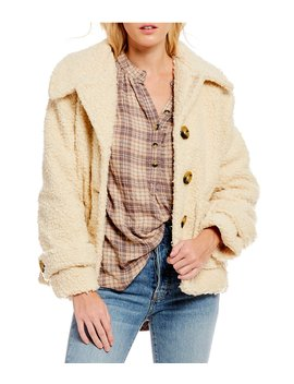 So Soft Cozy Teddy Peacoat by Free People