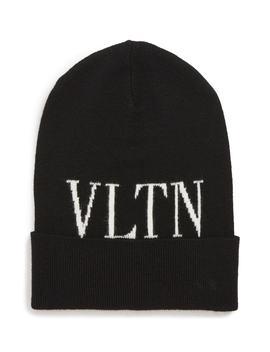 Garavani Vltn Wool & Cashmere Beanie by Valentino