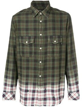 Gradient Checked Button Shirt by Diesel