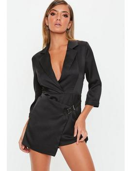 black-belted-skort-blazer-playsuit by missguided