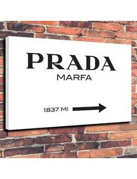 Gossip Girl Prada Marfa Printed Canvas Picture Multiple Sizes 30mm Deep Frame by Ebay Seller