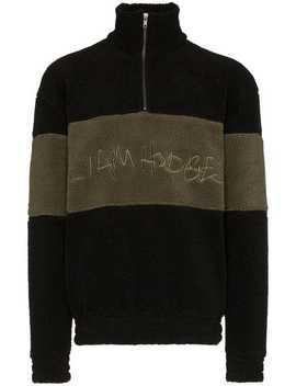 Hand Written Embroidered Fleece Sweatshirt by Liam Hodges