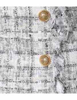 Exclusivo En Mytheresa – Minifalda De Tweed De Cuadros by Balmain