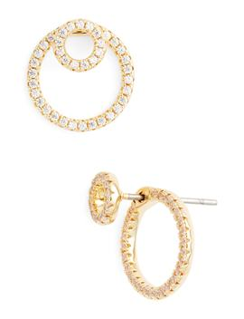 Pavé Double Hoop Earrings by Nordstrom