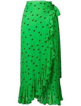 Georgette Long Skirt by Ganni